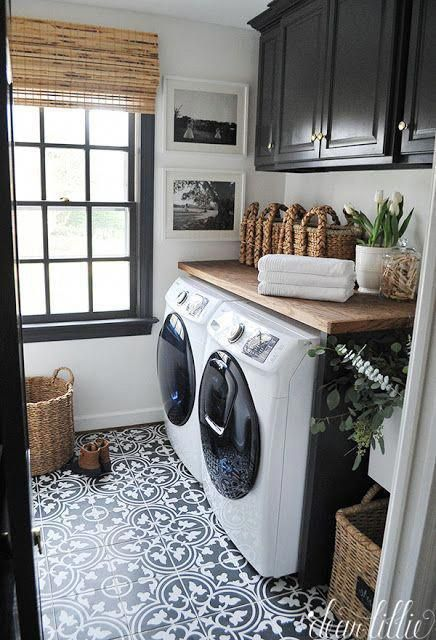 Design and layout ideas for a small modern laundry room Consider tiles countertop storage and organization Ikea cabinets Australia  Organised Pretty Home