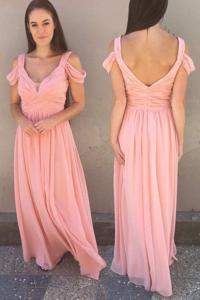 Gorgeous Pink Chiffon Long Prom Dress Party Dress | Prom Dresses ...