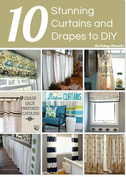 10 stunning curtains and drapes to DIY