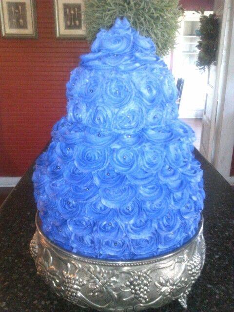 50th Birthday Cake Purple Sugar Pearls