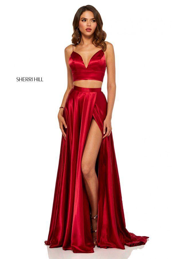 01e146c1fc Sherri Hill Style 52488  Ruby Size 2
