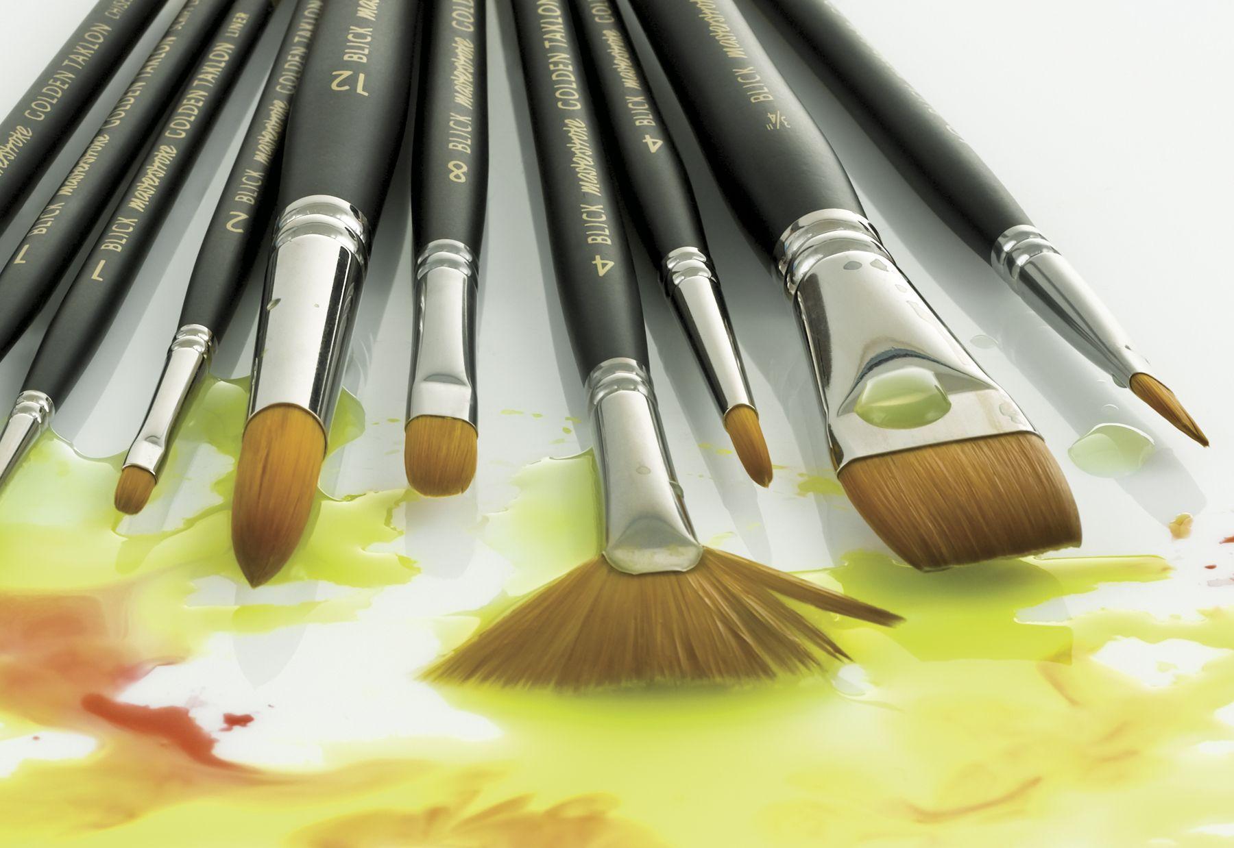 Blick Watercolor Brushes Mini canvas art, Art materials