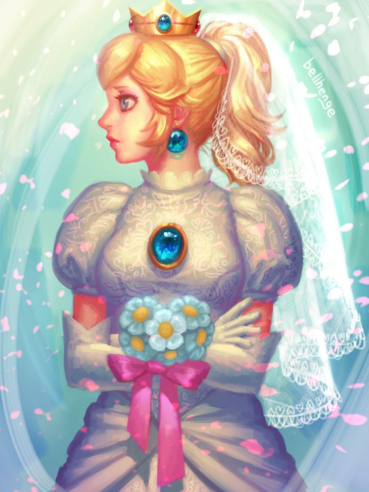 Wedding Peach by bellhenge.deviantart.com on @DeviantArt | Nintendo ...
