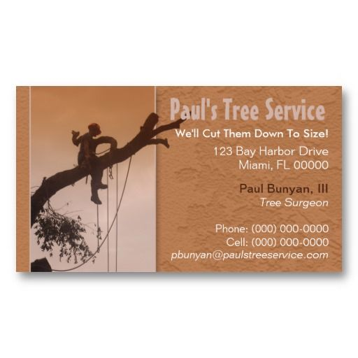 Tree Service Business Card Zazzle Com In 2021 Tree Service Customizable Business Cards Services Business