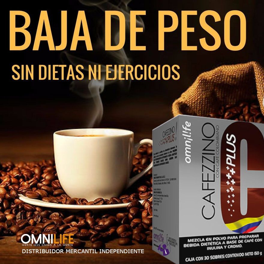 Cafezzino Plus Omnilife Omnilife Peso Saludable Cafe Colombiano