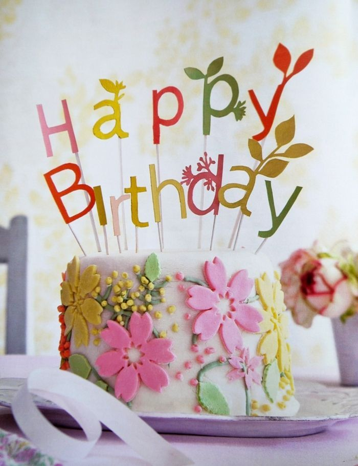 Sang Juragan Unique Happy Birthday Cake And Flowers