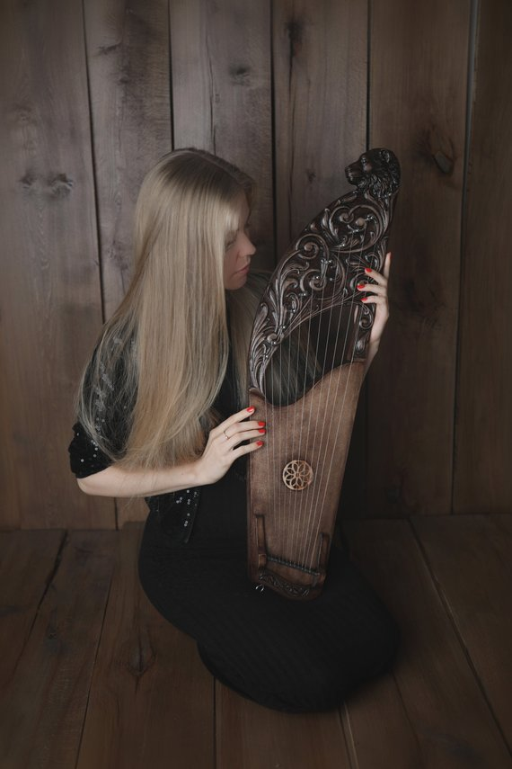 HandCrafted Musical Instrument gusli / lyre / harp / kantele / psaltery / kannel #musicalinstruments