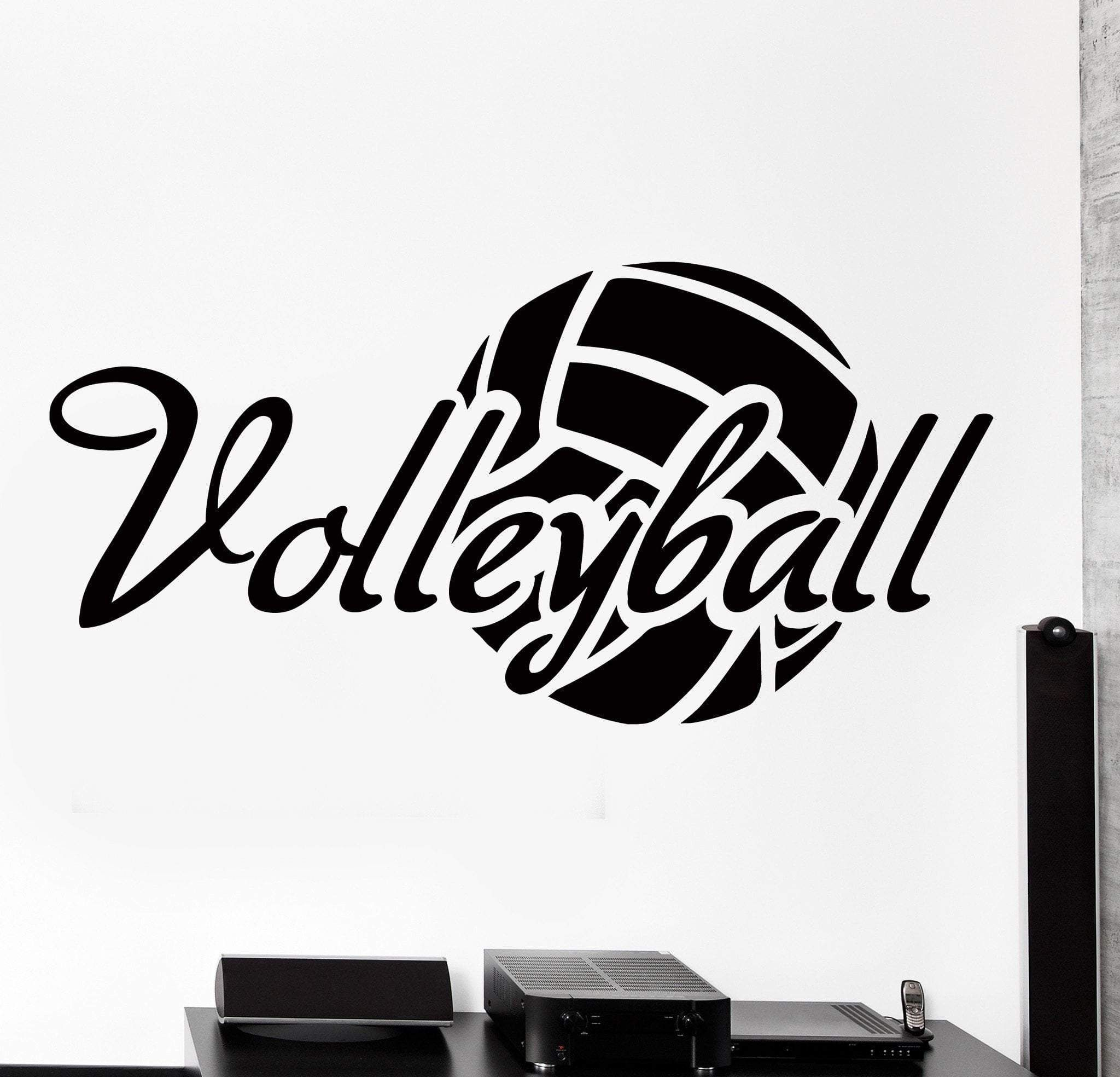 Wall Vinyl Decal Volleyball Motivation Quote Word Sport Home Decor Unique Gift Z4329 Vinyl Wall Decals Volleyball Motivation Volleyball Room