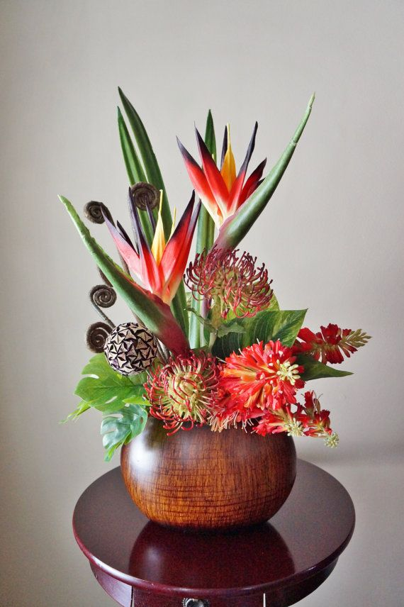 Floral Arrangements Birds Of Paradise Protea Home Decor Silk Floral Ar Tropical Flower Arrangements Tropical Floral Arrangements Modern Flower Arrangements