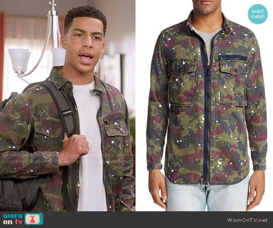 599aa090a0 Junior s camo print jacket on Black-ish. Outfit Details  https