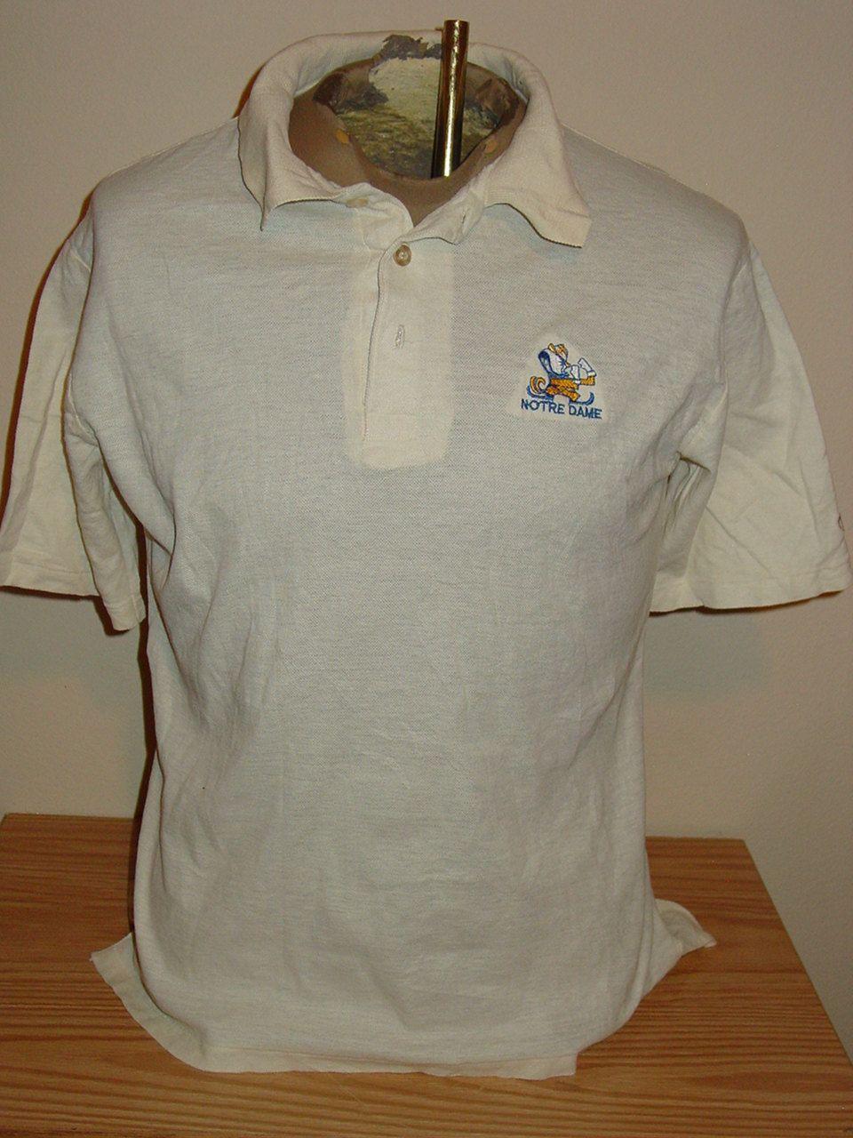e7f52ee20 vintage 1970s Notre Dame Fighting Irish retro polo t shirt
