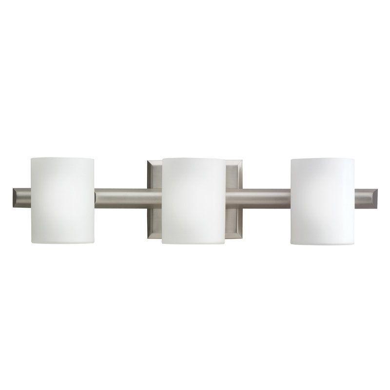 Photo of Kichler 5967NI Brushed Nickel Tubes 21″ Wide 3-Bulb Bathroom Lighting Fixture – LightingDirect.com