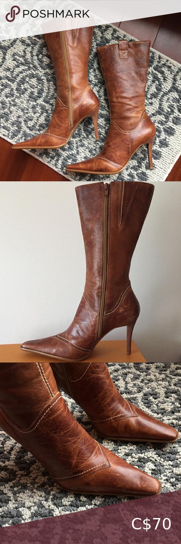 Aldo Vintage Aged Leather heeled Mid