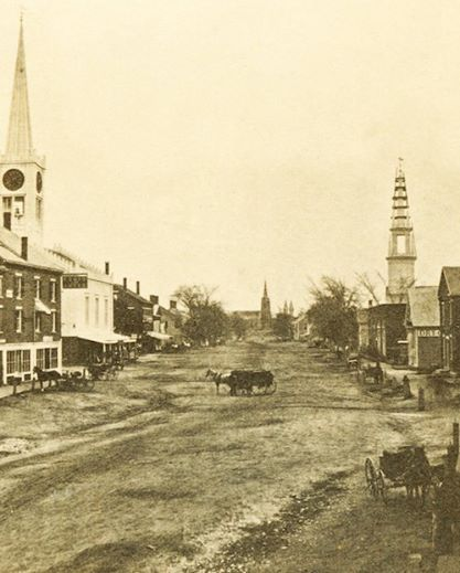 In This Photo Of Brunswick, Maine, Maine Street In1864 Is