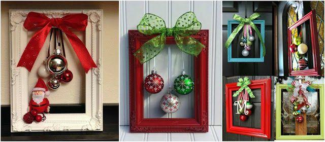 8 Adornos navideños con marcos para decorar en esta navidad ...
