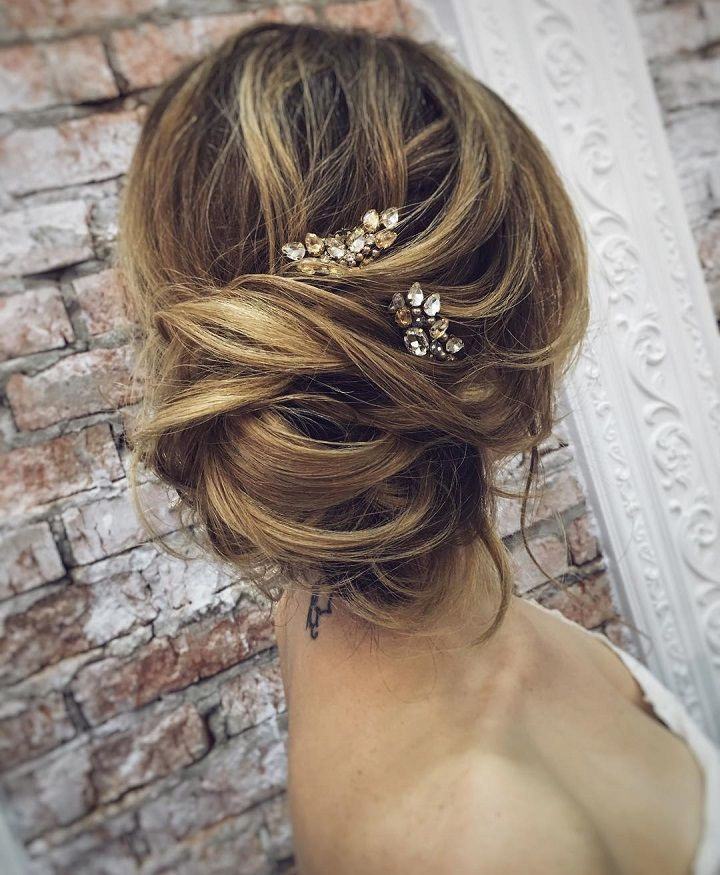 Messy Wedding Updo Hairstyles: Beautiful Messy Bridal Hair Updos