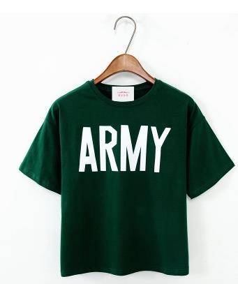 7f137496e68 Merry Pretty Women Tshirt 2017 Summer Style Army Green T Shirts Harajuku  Loose Casual Tops Letter Print Female T-shirt Blusa