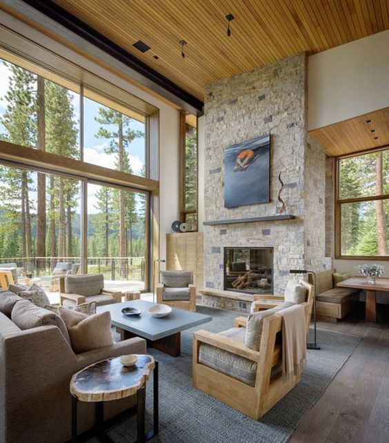 Montana Ranch House By Suyama Peterson Deguchi: Pin By Karin Mason On Living Rooms In 2019