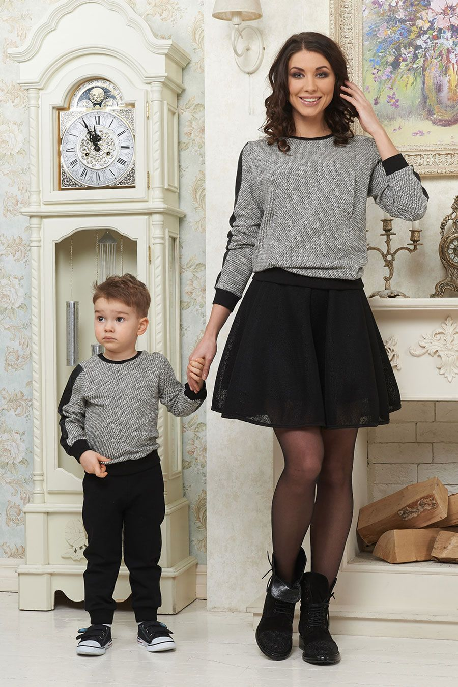 matching mother and son sweaters brusaporto and villanova sons babies and mother son. Black Bedroom Furniture Sets. Home Design Ideas