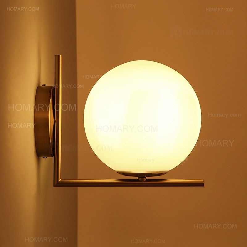 cattel simple white globe glass shade single light indoor wall