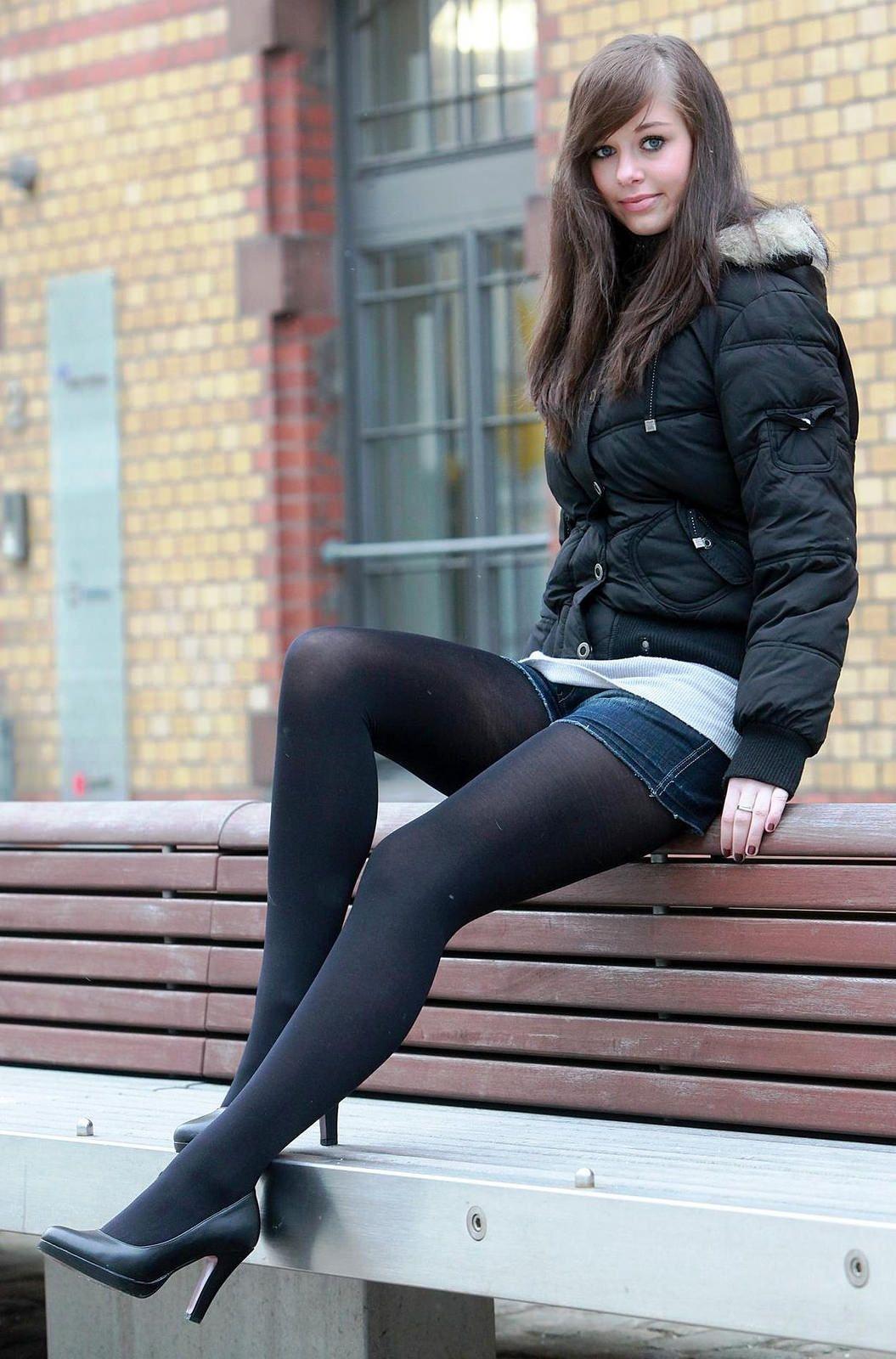 Pics pantyhose teen Suspender Pantyhose,