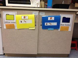 Calming and alerting sensory file folders | School | Special