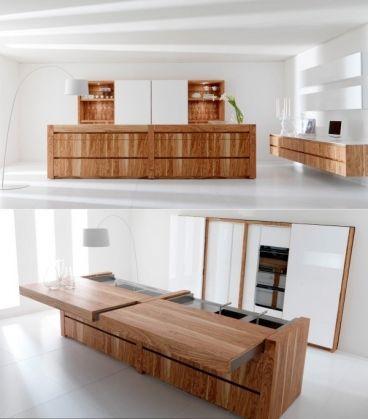 25 plans de travail de cuisine uniques - Design - Bois - Table De Cuisine Avec Plan De Travail