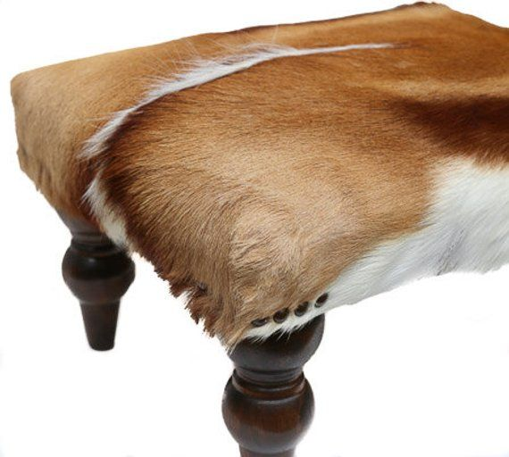 Magnificent African Springbok Ottoman Cowhide Ottoman Cowhide Stool Andrewgaddart Wooden Chair Designs For Living Room Andrewgaddartcom