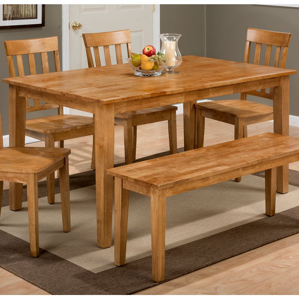 Jofran 352 60 Simplicity Honey Wooden Rectangle Dining Table
