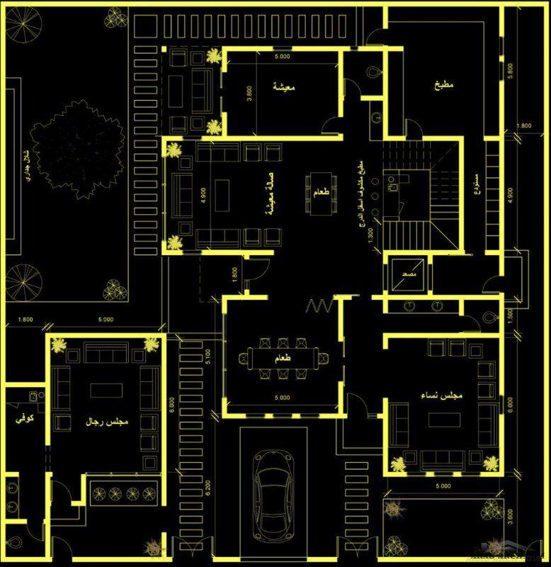 مخطط فيلا دورين مساحة الأرض 24 5x25 تصميم م أحمد الجهني In 2021 Simple House Plans Simple House House Plans