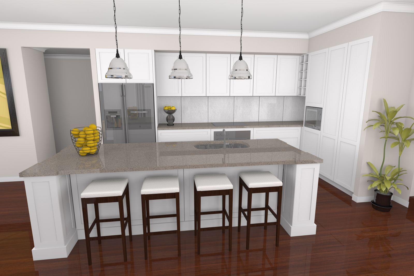 Ginger caesarstone kitchen google search countertops for Hamptons style kitchen splashback