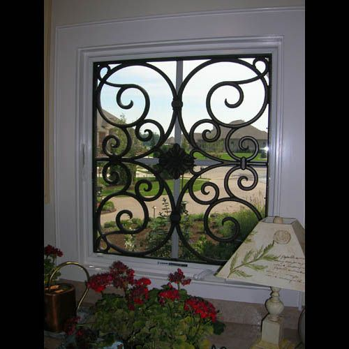 Faux Wrought Iron Window Treatment