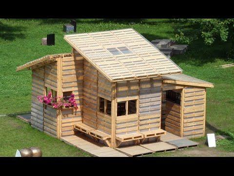 Como hacer casas con palets pallet houses pinterest - Como construir una casa con palets ...