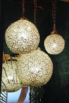 Beaded ball chandelier #lighting chandelier, pendant