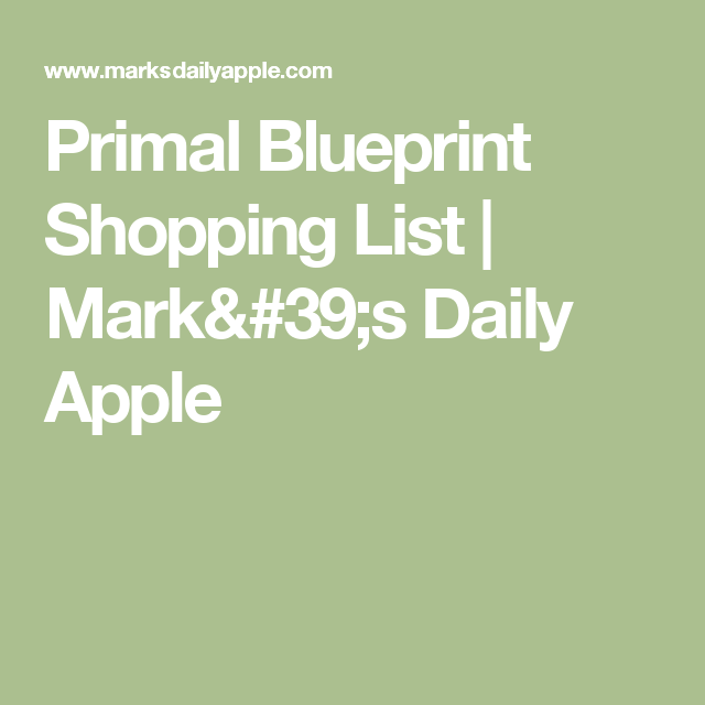 Primal blueprint shopping list shopping lists apples and food items primal blueprint shopping list malvernweather Gallery