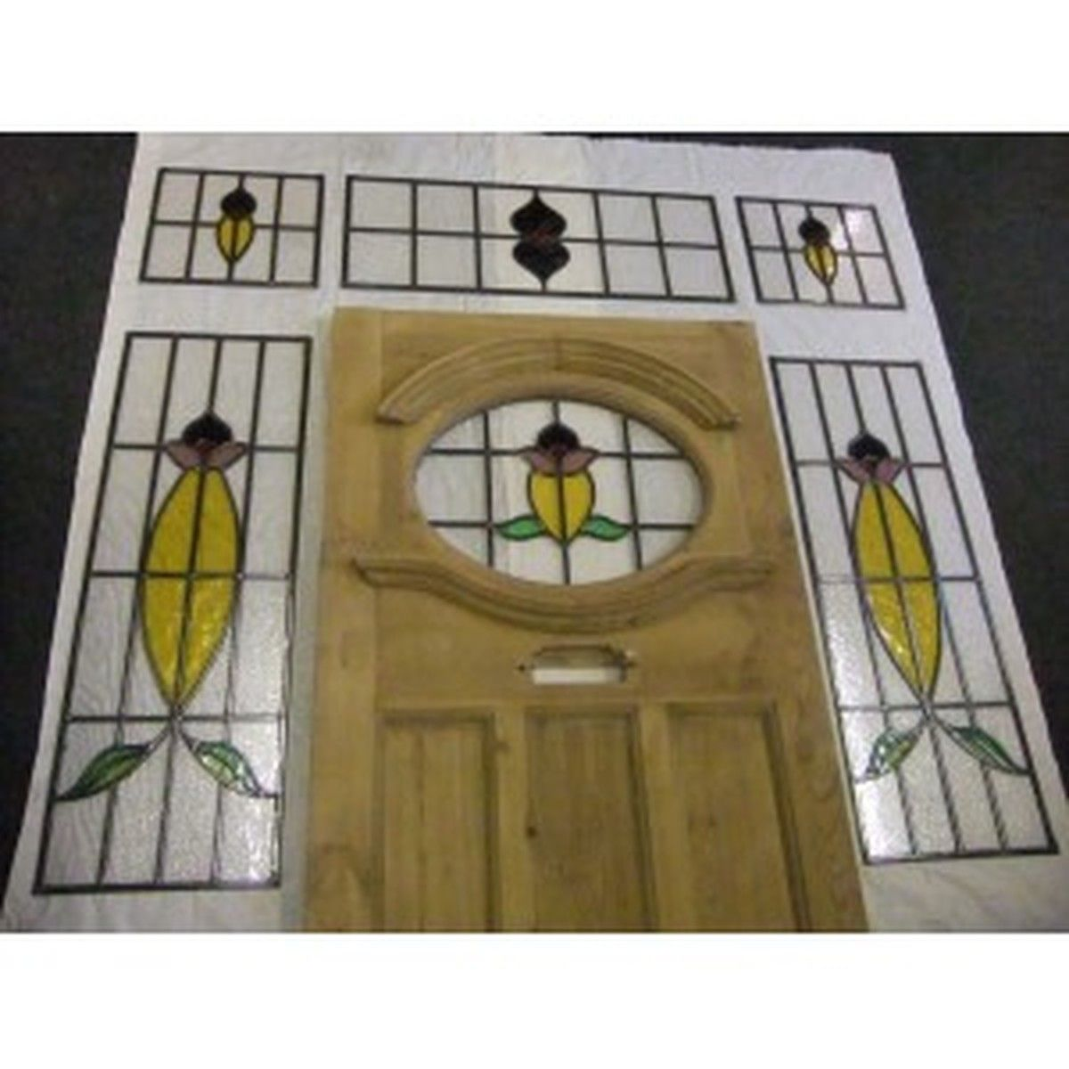 Doors And Windows Edwardian Stained Glass Exterior Door With Surrounding Windows Cheshire Exterior Doors With Glass Stained Glass Door Exterior Front Doors