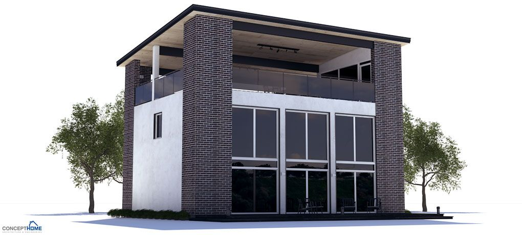 Modern House Plan With Rooftop Terrace Three Bedrooms High