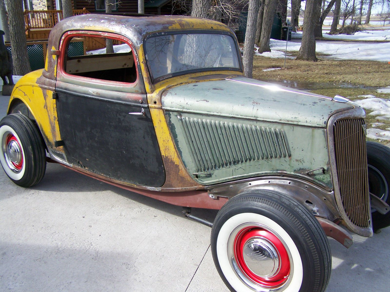 Damn i was outbid on my ratrod project car 1934 ford 3 for 1934 ford 3 window coupe project for sale