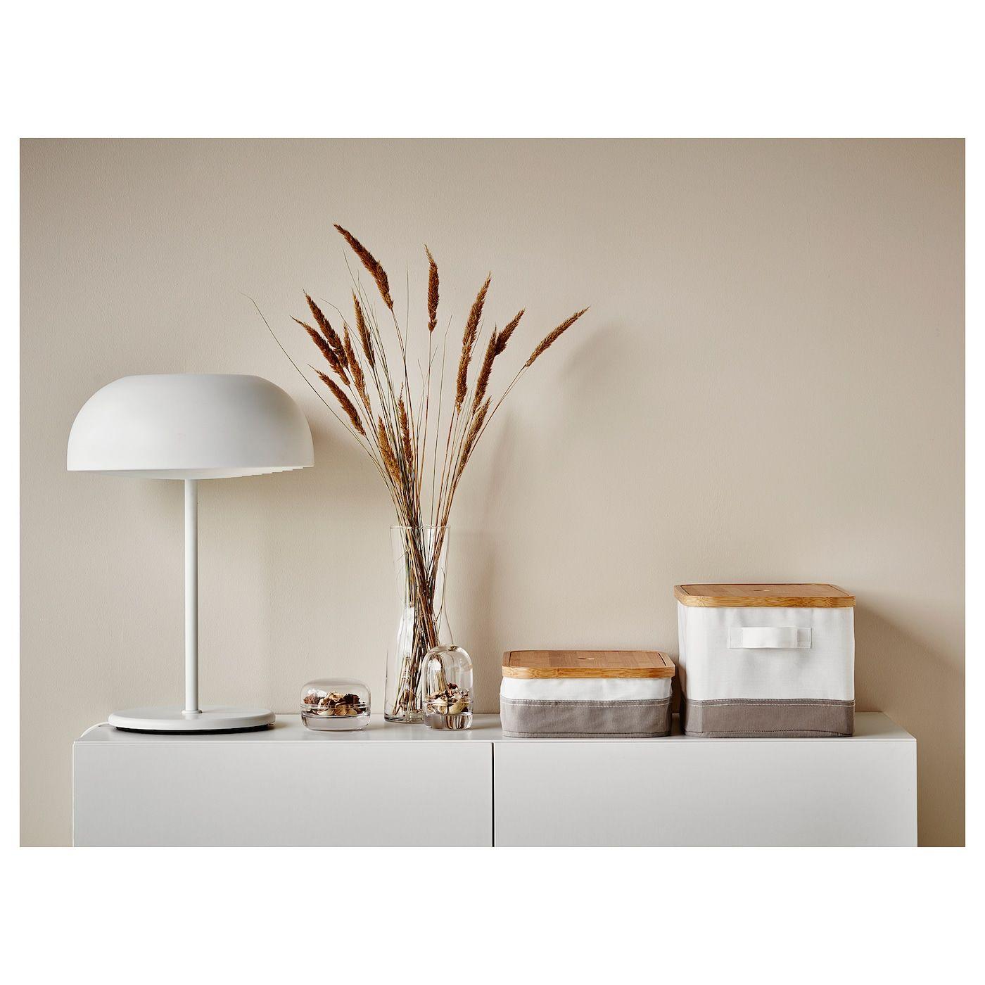 Nymane Tafellamp Wit Ikea In 2020 White Table Lamp Table Lamp Ikea