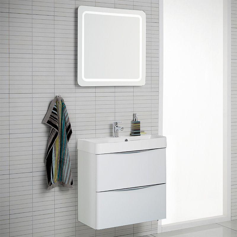 Badezimmer Waschplatz Set LUGIO256 Hochglanz weiß Jetzt bestellen ...