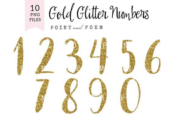 Glitter Numbers Clip Arts Clip Art Business Card Logo Graphic Design Illustration