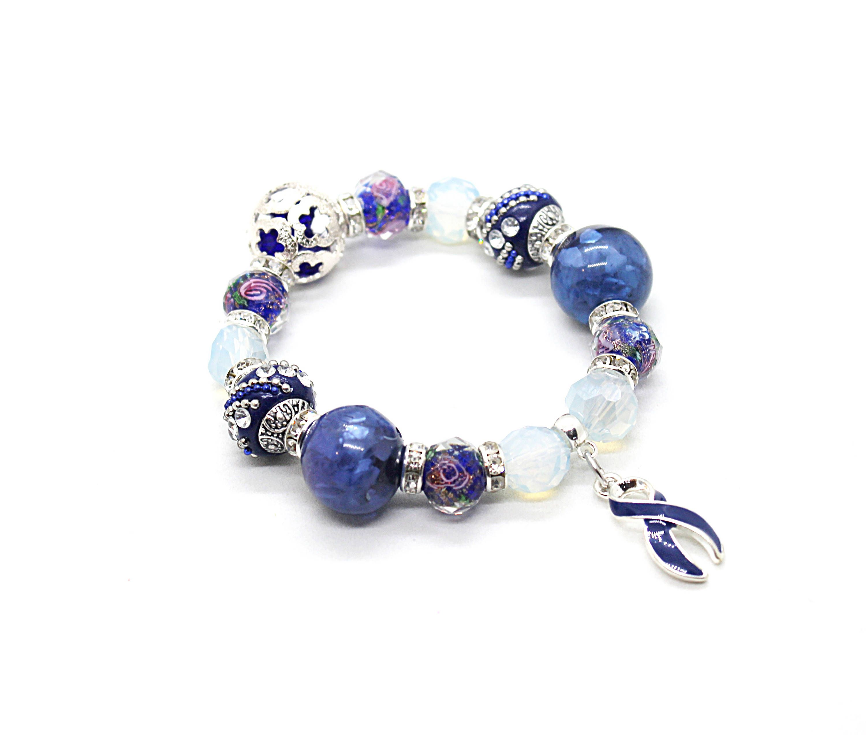 awareness beads p colon murano cancer fullxfull bracelet lampwork european glass il jewelry