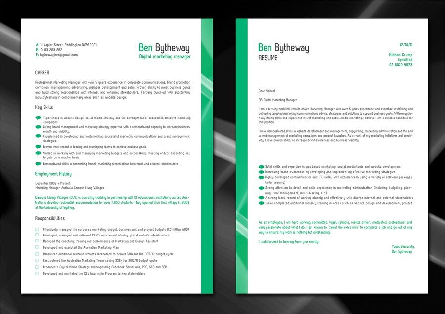 RESUME COVER LETTER  MAKE ME LOOK GREAT by cikky logo - make me a resume