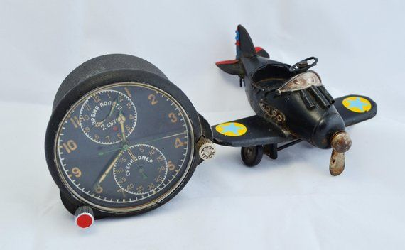 Vintage Aircraft Clock, Rare AirForce Clock, 1960s