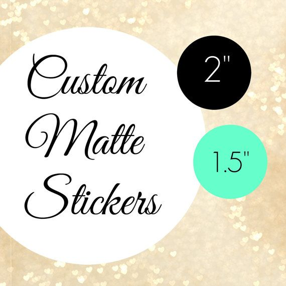 Round labelscustom matte stickers custom stickers logo by labelin