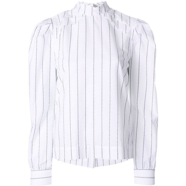 MSGM high neck pinstripe blouse Discount Free Shipping Cheap Quality Footlocker Finishline For Sale Lowest Price Cheap Price Hyper Online 2uFmw