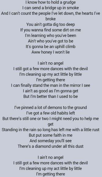 Better Than I Used To Be Lyrics By Tim McGraw - YouTube