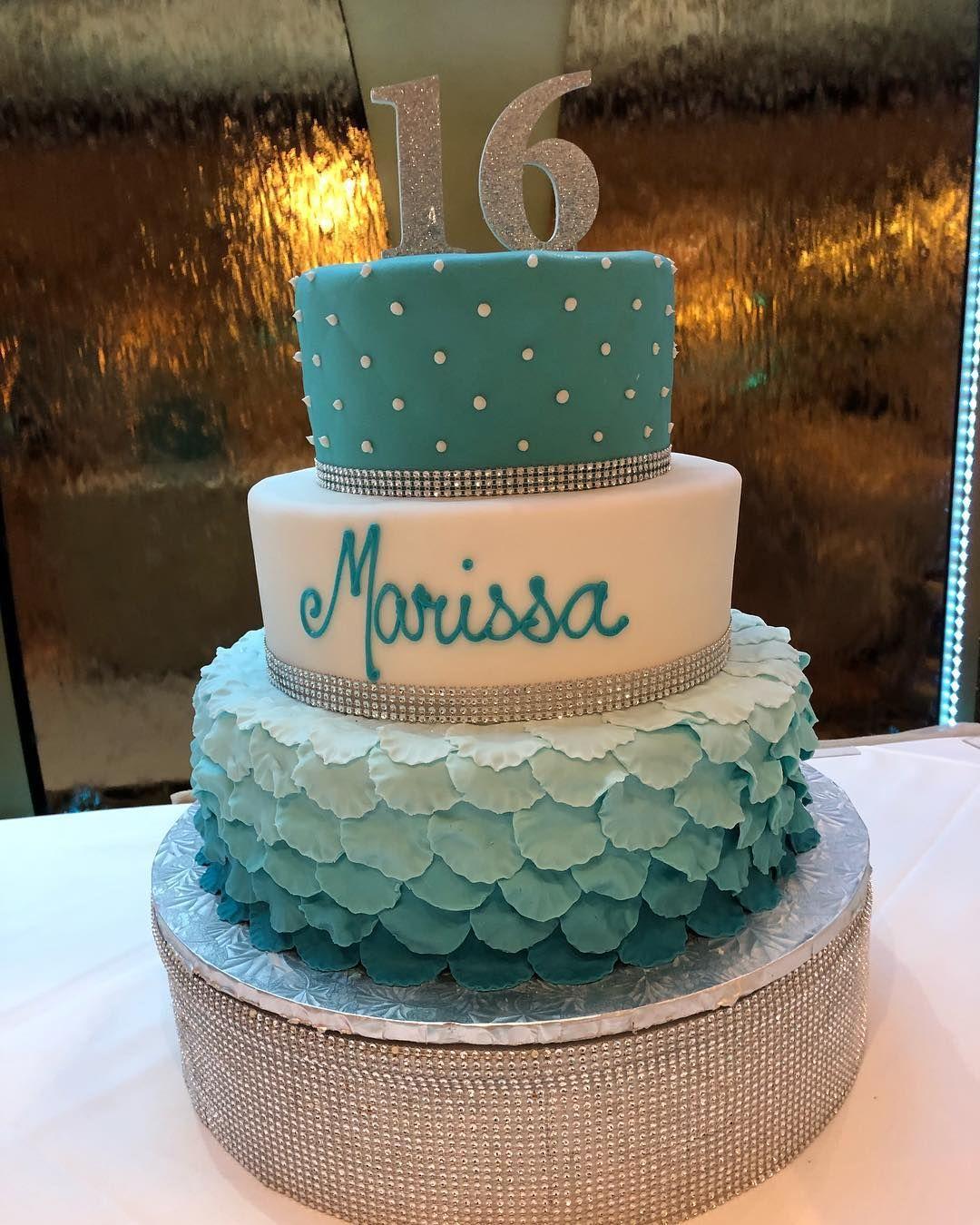 A Cake Fit For A Princess Birthdaycake Princess Turquoise 16