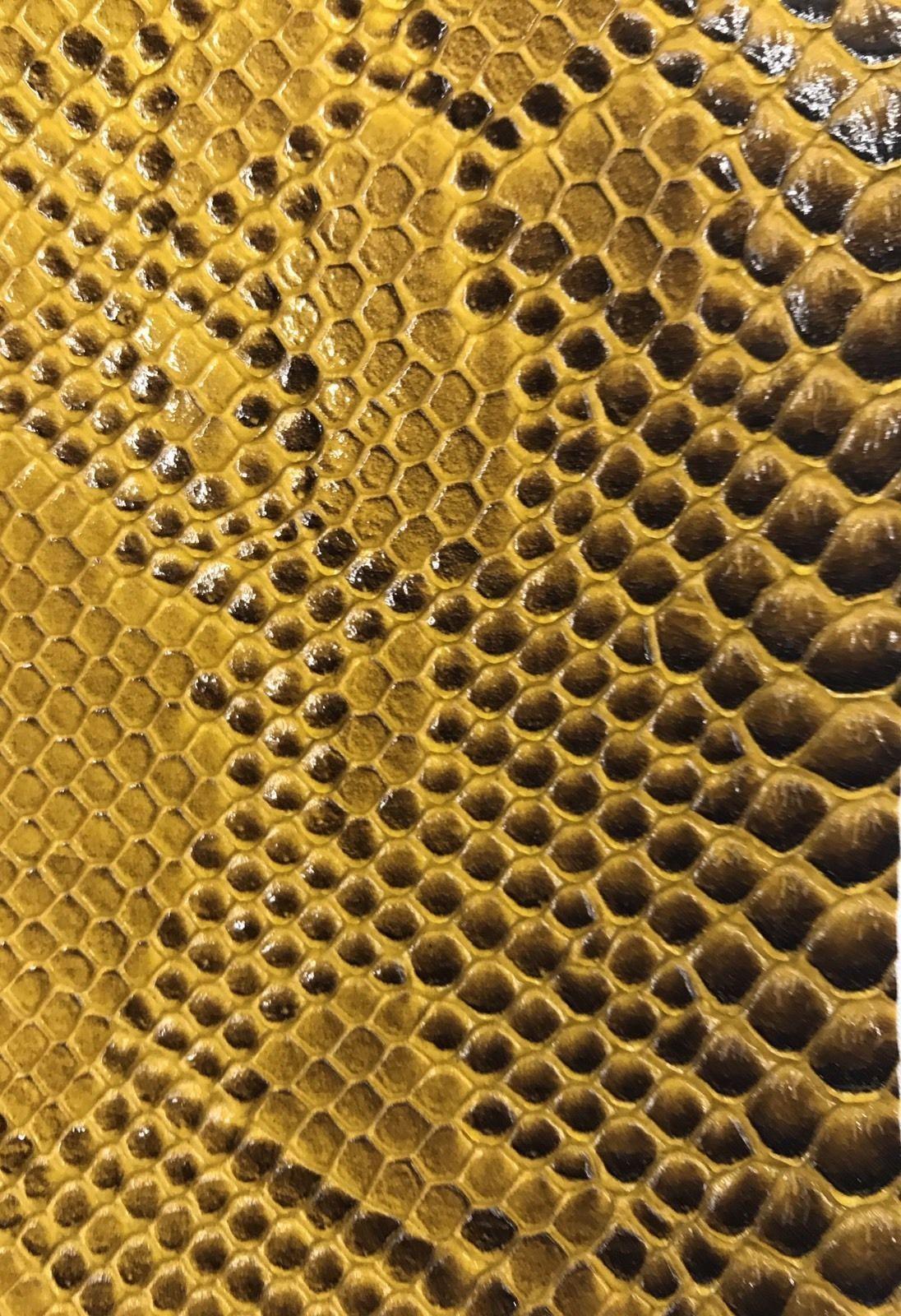 Vinyl Fabric Gold Faux Viper Snake Skin Leather Upholstery 3d Scales By The Yard Viper Snake Snake Wallpaper Snake Skin