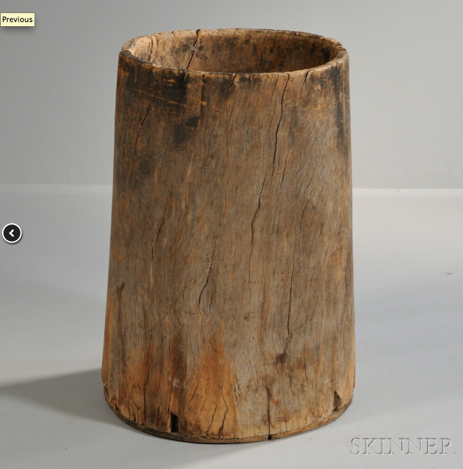 18th C Hollow Tree Trunk Barrel Primitive Decorating Country How To Antique Wood Hollow Tree